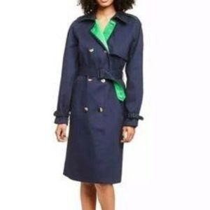 Philip Lim For Target Navy Green Trench coat